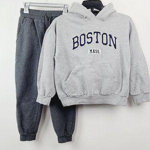Boy's Bundle Boston Hoodie + Champion Pants 10-12